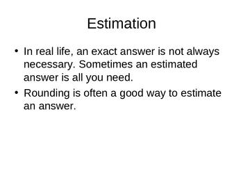Estimating and Estimation