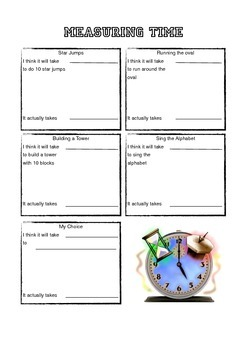 Estimating and Measuring Time
