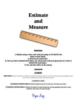Estimating and Measuring in Primary Grades