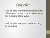 Estimating and Rounding Decimals PP