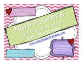 Estimating and Rounding Math Word Wall Posters