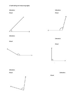 Estimating and measuring angles