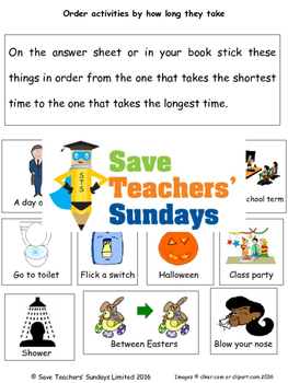 Estimating time worksheets (2 levels of difficulty)