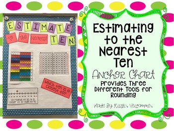 Estimating to the Nearest Ten Anchor Chart
