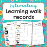 Estimating walk activity sheet