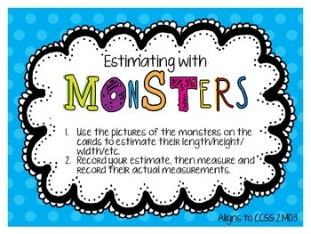 Estimating with Monsters! (2.MD.3)
