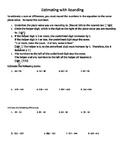 Estimating with Rounding Worksheet