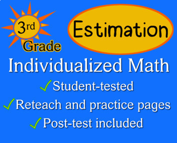Estimation, 3rd grade - Individualized Math - worksheets
