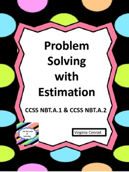 Estimation---4 worksheets with real world problems