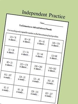 Estimation Activities 3rd grade