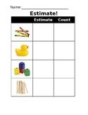 Estimation Activity