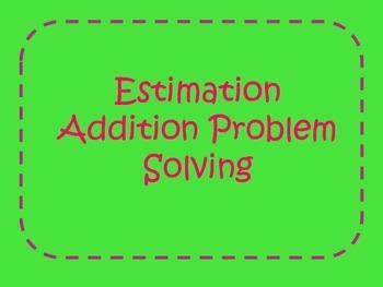 Estimation Addition Task Cards