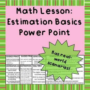 Estimation Basics - A Power Point Lesson
