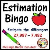 ESTIMATE - Estimation Bingo - Classroom Activity w/ 35 Bin