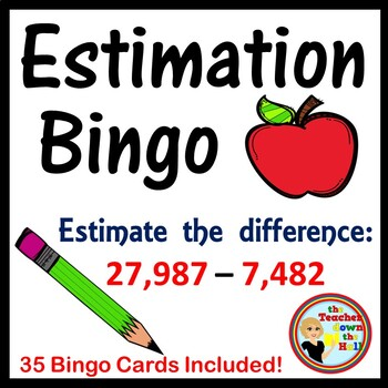 ESTIMATE - Estimation Bingo - Classroom Activity w/ 35 Bin