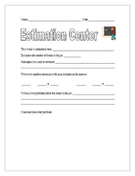 Estimation Center - Student Form