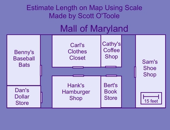 Estimation Distance on a Map Using a Scale - Smartboard Math Lesson