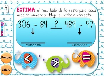 Estimation Elephants SPANISH PowerPoint Game