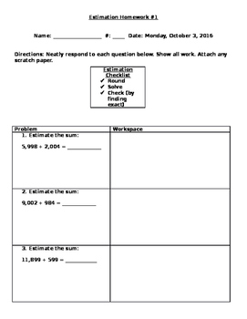Estimation Homework 1
