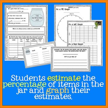 Estimation Jar #2 - Percents, Decimals, Fractions, and Graphing, SmarterBalanced