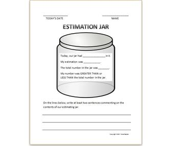 Estimation Jar Activity