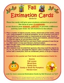 Estimation Jar Cards for Fall Fun