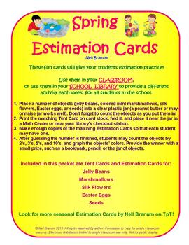 Estimation Jar Cards for Spring Fun