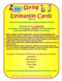 Estimation Jar Cards for Spring Fun
