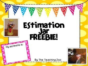 Estimation Jar {FREEBIE!!}