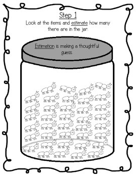 Summer Estimation Jar Greater Than/Less Than Skip Counting Math Centers Set