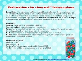 Estimation Jar Journal - Boost Data Analysis Skills and Have Fun!