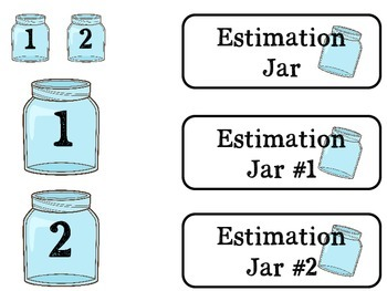 Estimation Jar Journal and Labels