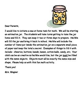 Estimation Jar Letter