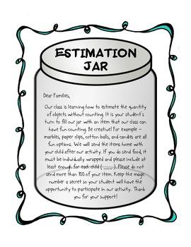 Estimation Jar - Parent Letter