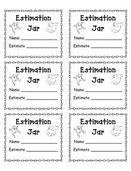 estimation jar template by emily caballero teachers pay teachers. Black Bedroom Furniture Sets. Home Design Ideas