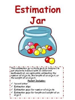 Estimation Jar: Using Estimation Data in a Variety of Ways
