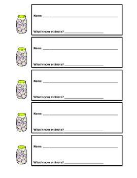 Estimation Jar Weekly Activity Kids Love!