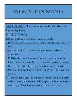 Estimation Mania