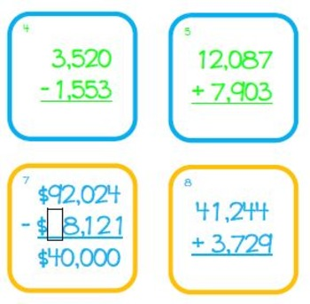 Estimation Math Game: Addition and Subtraction