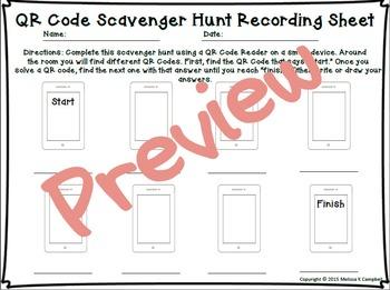 Estimation and Number Sense QR Code Scavenger Hunt