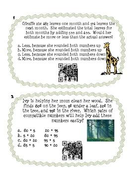 Estimation Problem Solving Cards