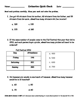 Estimation Quiz