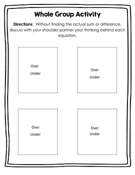 Estimation & Reasonable Thinking Activity (with blank cards)