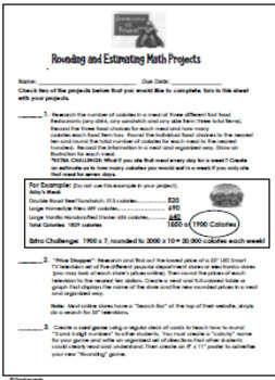 Rounding Projects, Fun, Creative and Fun Estimating Enrichment!