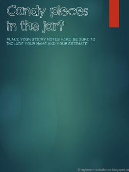 Estimation Station Poster and Task card set