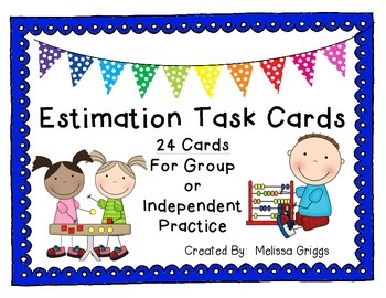 Estimation Task Cards