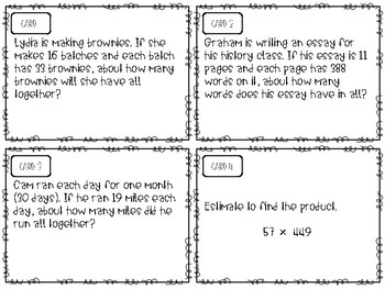 Estimation Task Cards