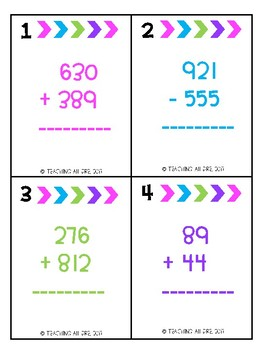 Estimation Task Cards (Addition and Subtraction)