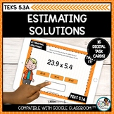 Estimation Task Cards | Boom Cards Math Distance Learning