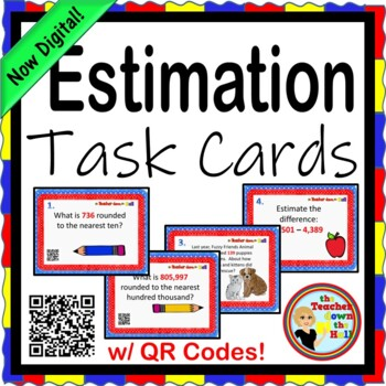 ESTIMATE - Estimation Task Cards w/ QR Codes